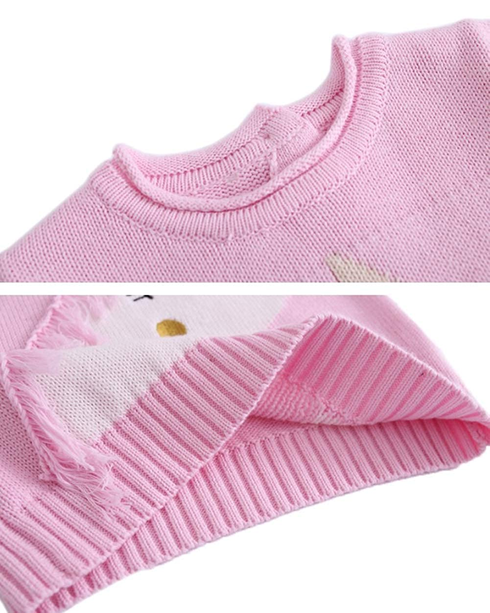 Toddler Baby Girls Pullover Sweater Kid Boys Cute Unicorn Knit Sweatshirt 1-6t