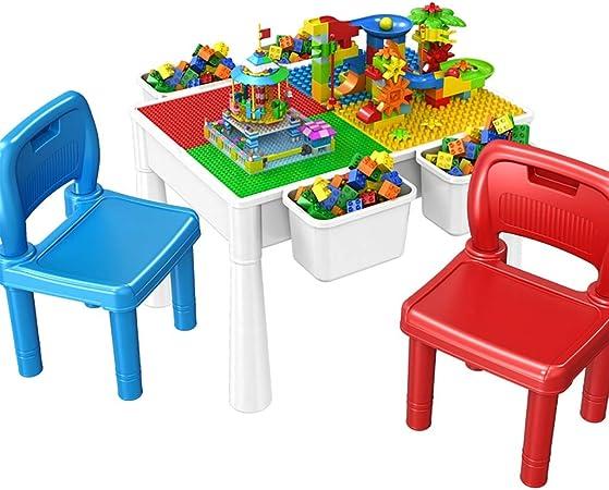 Mesa de Juego Mesa De Construcción Multifuncional Mesa De Juego Infantil Rompecabezas Montaje De Juguetes Regalos para Niños (Color : Color, Size : 61 * 42 * 44cm): Amazon.es: Hogar