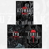 Junji Ito Collection 3 Books Bundles (UZUMAKI 3-IN-1 DLX ED HC,GYO 2IN1 DLX ED HC)