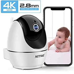 WiFi IP Camera 1080P, Wireless Security Camera, Indoor Home Camera for Pet Dog Nanny Baby Monitor, Dome Camera with HD Night Vision, Two-Way Audio and Motion Detection