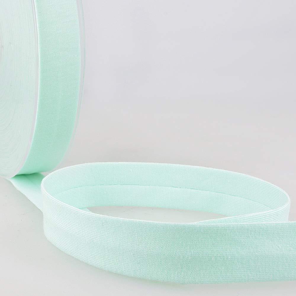 20mm Wide Per Metre Stephanoise Plain Cotton Jersey Bias Binding Pink
