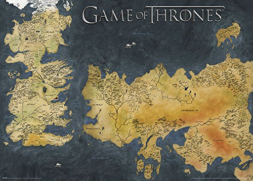 Game Of Thrones Juego de Tronos Westeros y Essos - Cartel ...