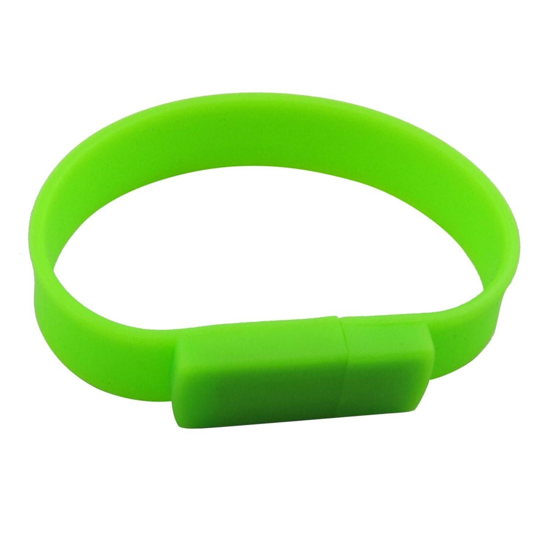 Lalakie® Bracelet USB 3.0Memory Stick Pendrive lecteur flash 64Go haute vitesse (Vert) UFD009Green64GB3.0