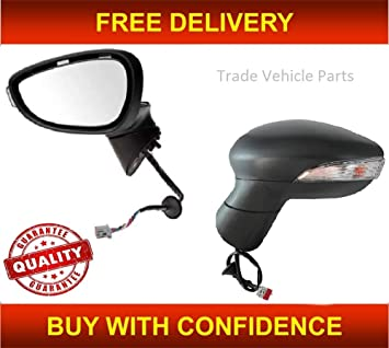 Ford Fiesta 2013-2017 Door Mirror Electric Heated Lamp Right Drivers