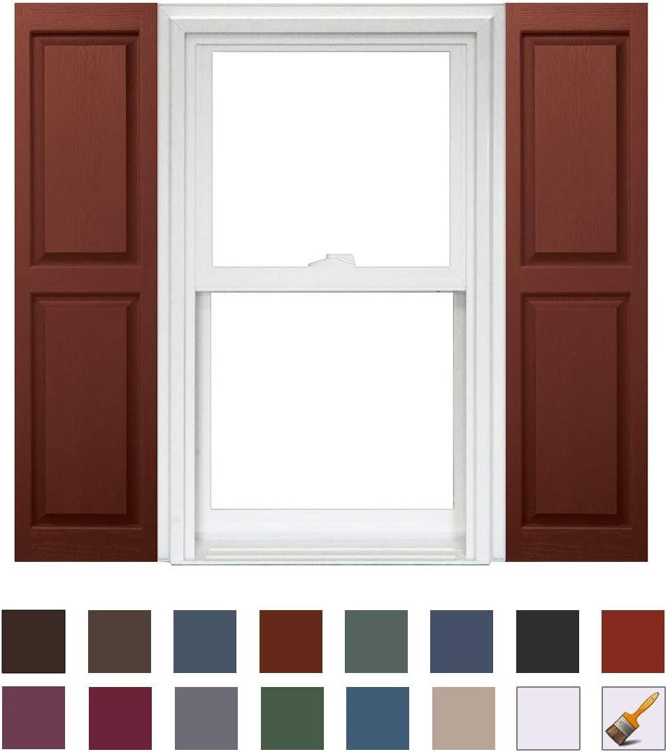 Homeside Raised Panel Shutter 1 Pair 14-1//2in x 51in 990 Paintable