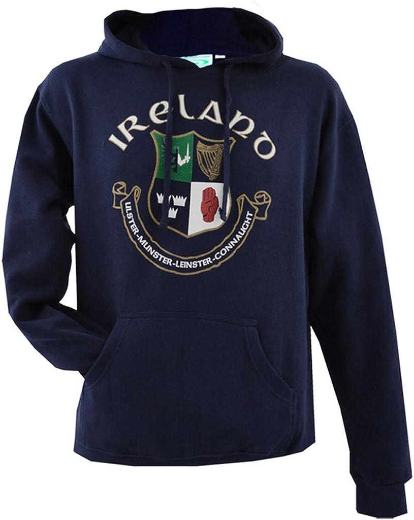 Malham USA Men Ireland Polyester Cotton Blend Half Zip Long Sleeves Hoodie Navy Blue Color