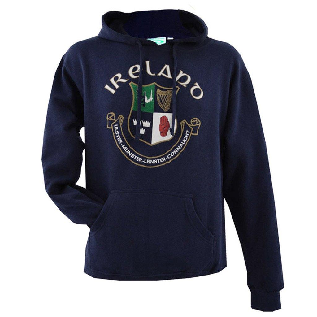 Traditional Craft Ltd Navy Ireland 4 Province Crest Hoodie P5079