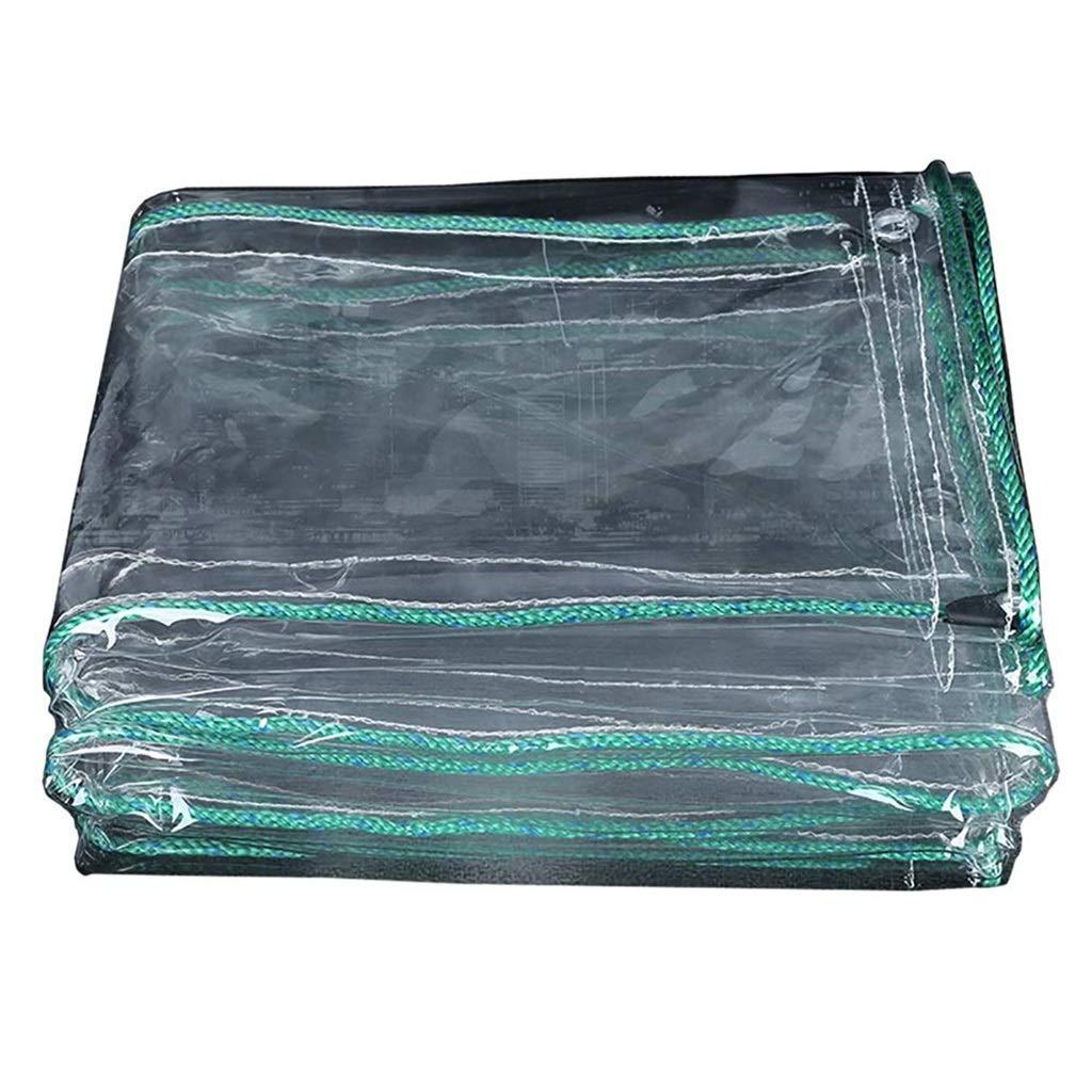 2mx2m DJSMpb BÂches BÂche Anti-Pluie Transparente de PVC avec la Tente résistante d'isolation de Tissu de Hangar imperméable de Feuille de bÂche d'oeillets (Taille   1.8mx3m)