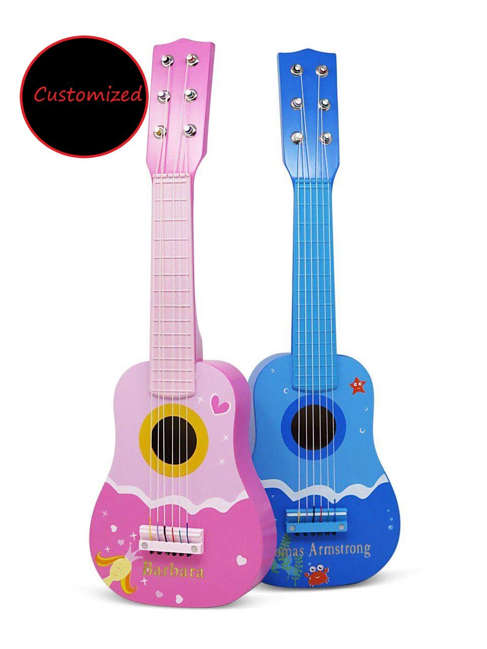 BrightTexts Personalized Kids Guitar, Customized Toy Instrument for Kids, Custom Kids & Toddler Birthday Gift, Personalized Kids Gift Idea by BrightTexts