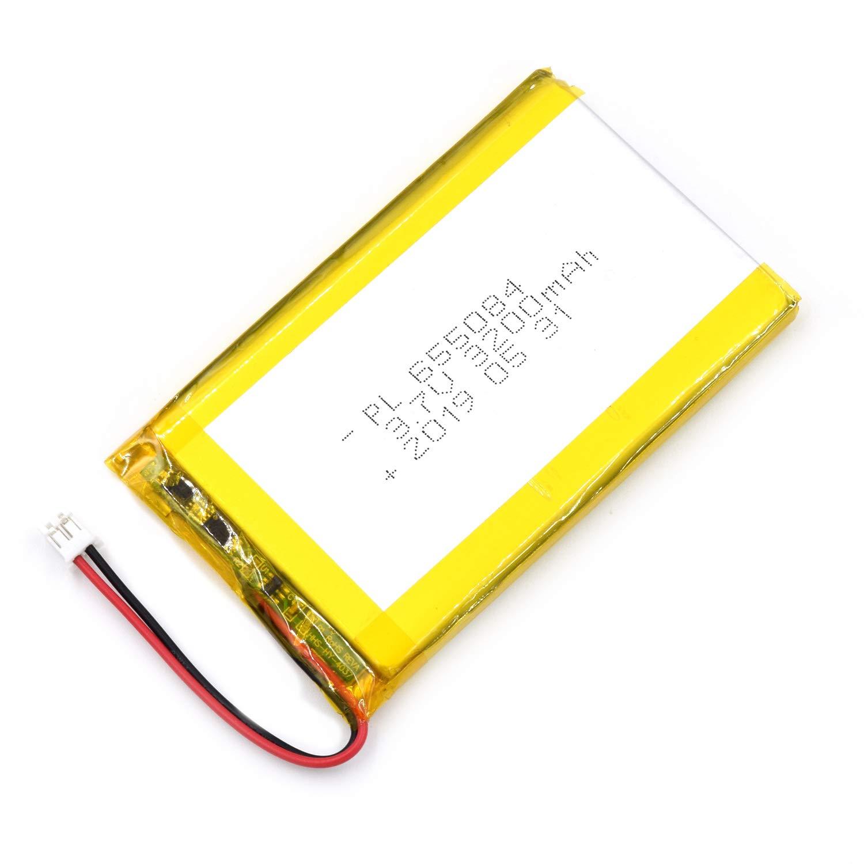 Bateria Lipo 3.7v 3200mah 655084 Recargable Jst Conector