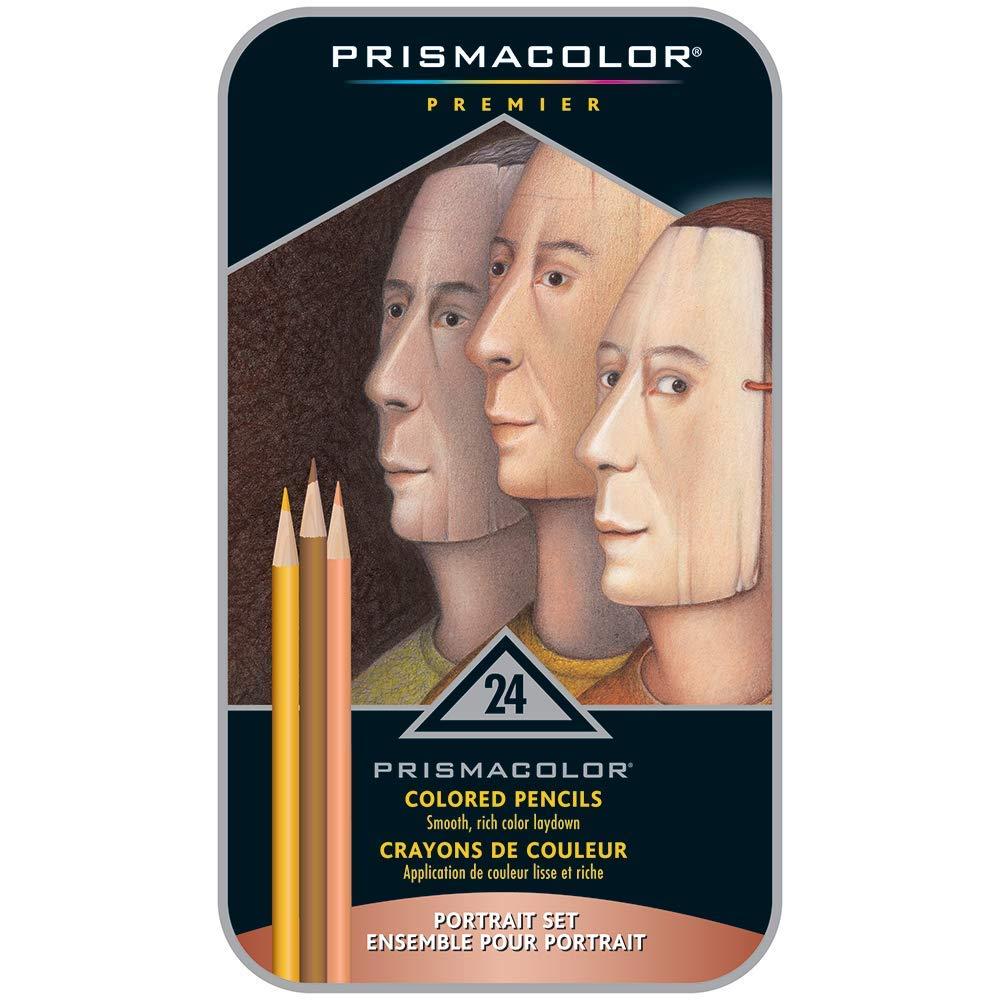 Sanford 25085R Prismacolor Premier Colored Pencils, Portrait Set, Soft Core, 24-Count by PRISMACOLOR