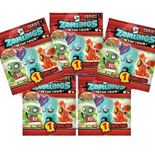 ZOMLINGS Zomings In The Town Figure Packs Set of 5 Series 1 Figure Bags