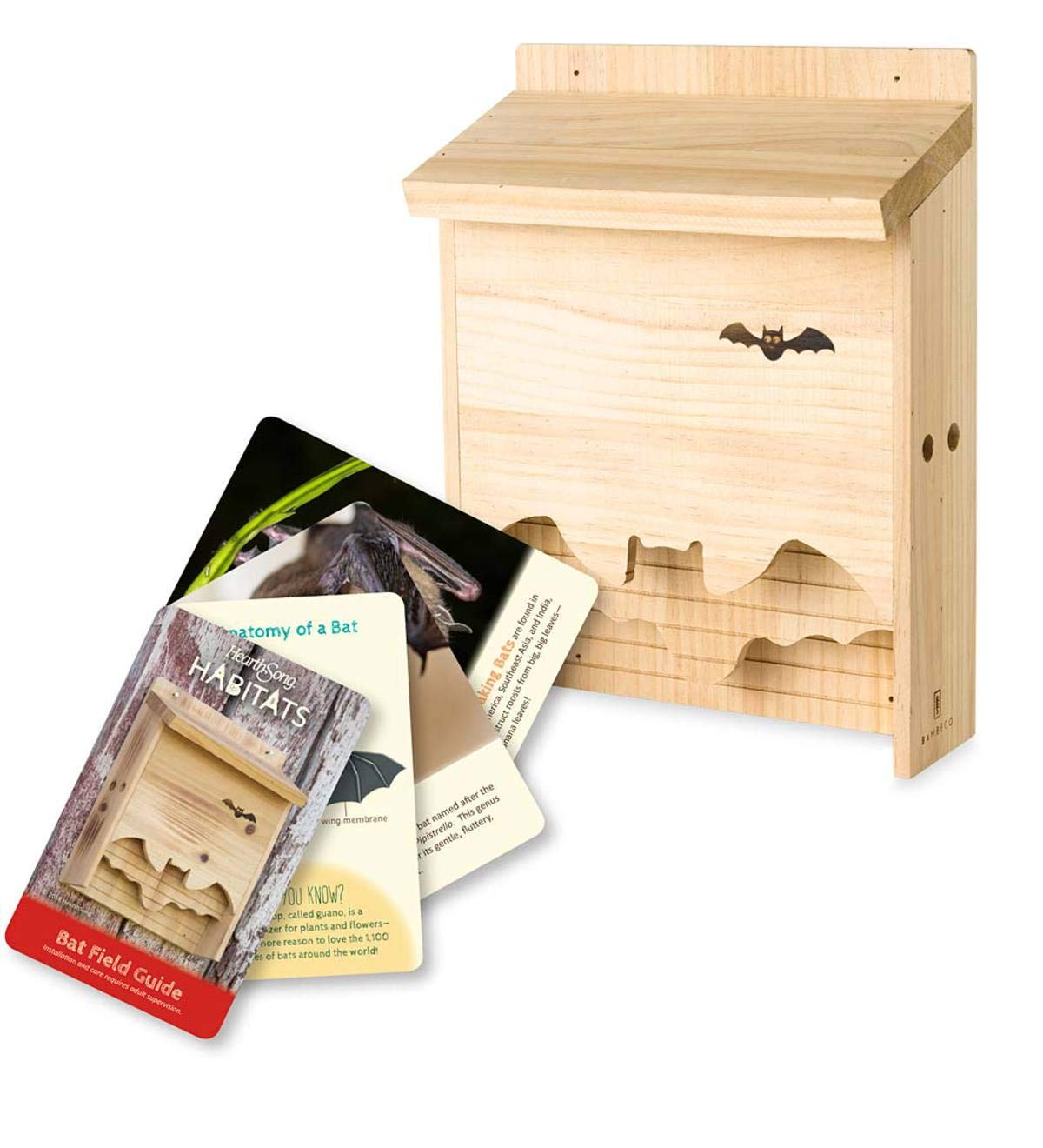HearthSong® Bat House with Field Guide Cards