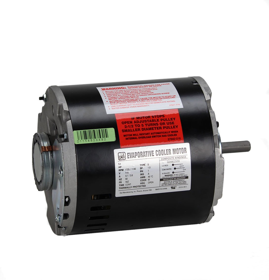 Amazon.com: Dial 2-Speed 1/2 HP 115- Volt Permanently Lubricated Evaporative  Cooler Motor: Home Improvement