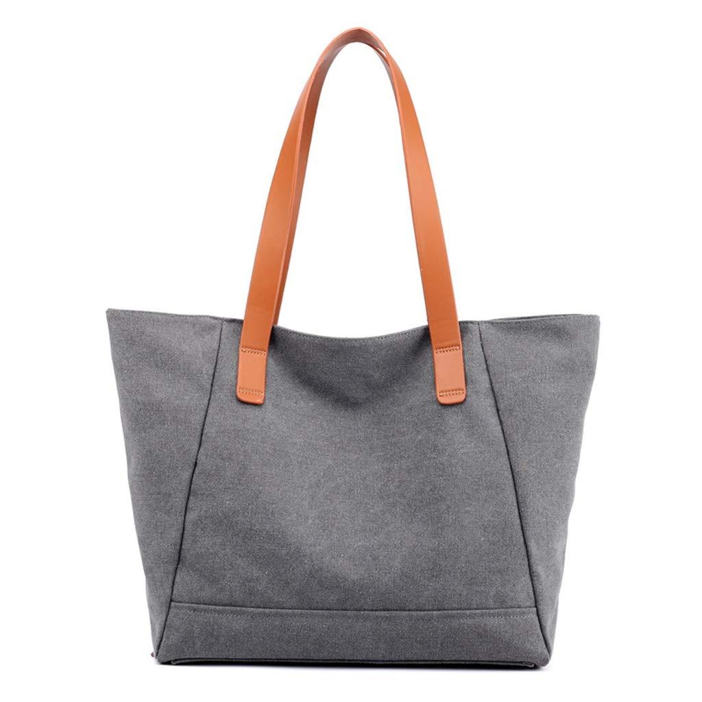 3500e197d1060 Amazon.com: Women's Canvas Shoulder Bag Large Capacity Handbag Tote Bag  Casual Shopping Bag with Small Purse Hobo style (Black): Shoes