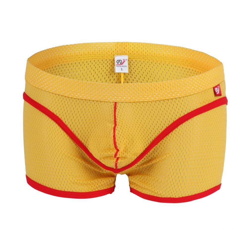 Cebbay Ropa Interior Masculina Pantalones Cortos cómodos de Malla Transpirables Casa Pantalones de Playa Bikini Deportivo