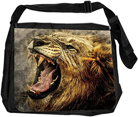 Animal Tiger Roar Art Cross Body Shoulder Messenger Laptop Bag