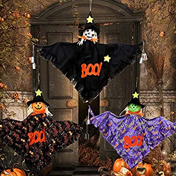 MSSJ - Decoración para Halloween, Juego de Viento, espantapájaros ...
