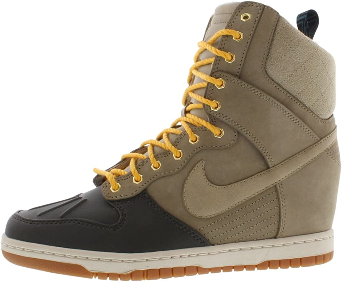 Marinero Cambiable sentar  Amazon.com | Nike Dunk Sky Hi Women SneakerBoots Bamboo 616715-200 (5.5  B(M) US) Beige/Black | Shoes