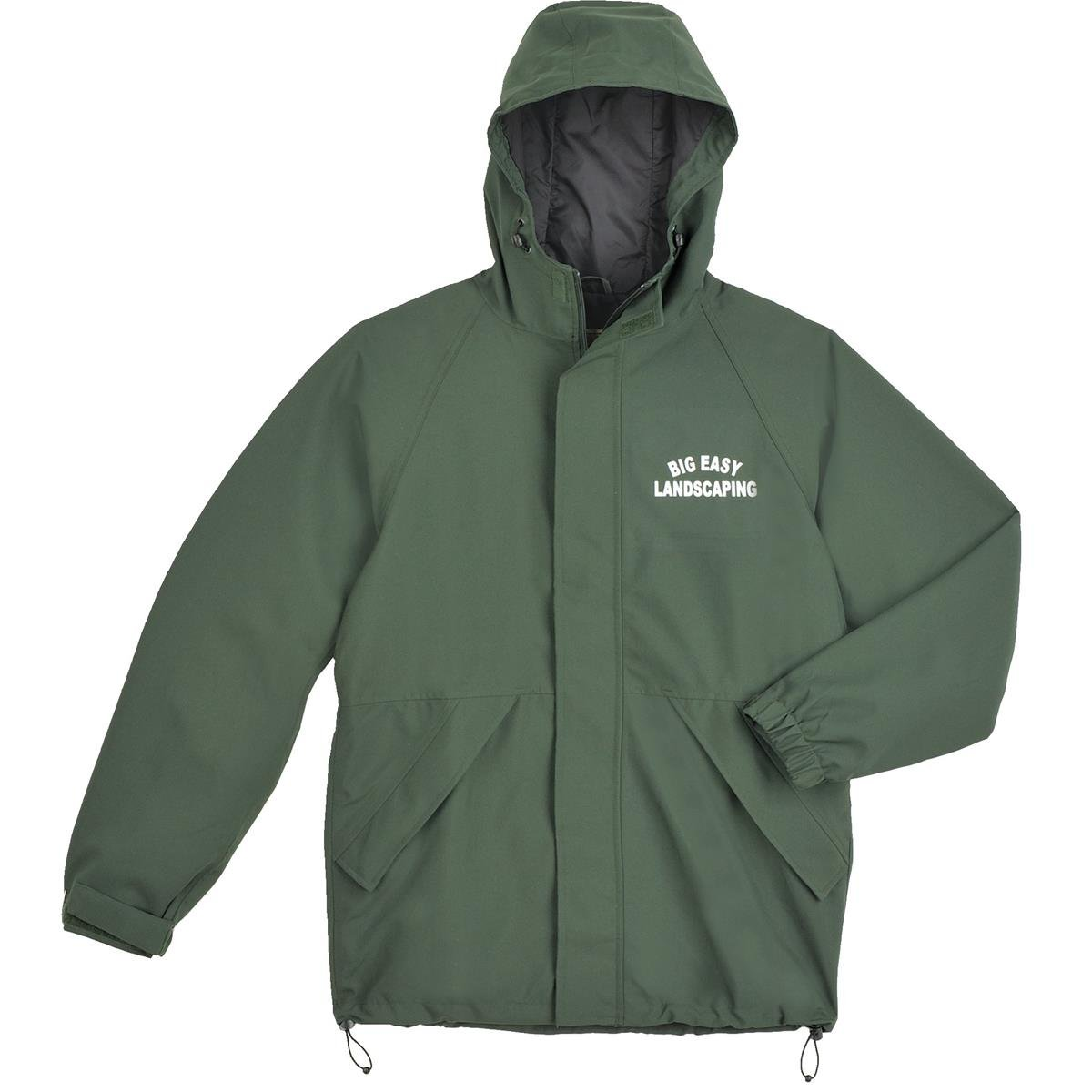 GEMPLER'S Breathable Fully-Lined Rain Jacket with 2-Way Heavy-Duty Zipper Front, Size 2XL