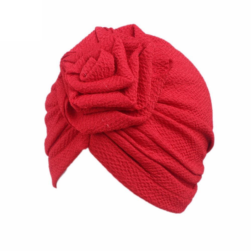Bonnet Bébé, Mamum Bébé Turban Bandeau Chapeau Musulman Islamique Fleur Perte Cheveux (Jaune)