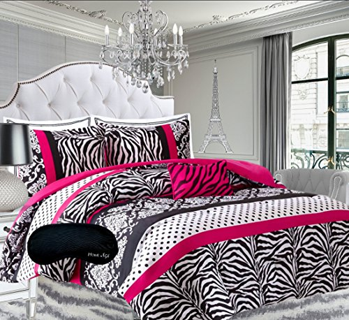 Teen Girls Hot Pink Black White Bedding  - Zebra Percale Bedding Shopping Results
