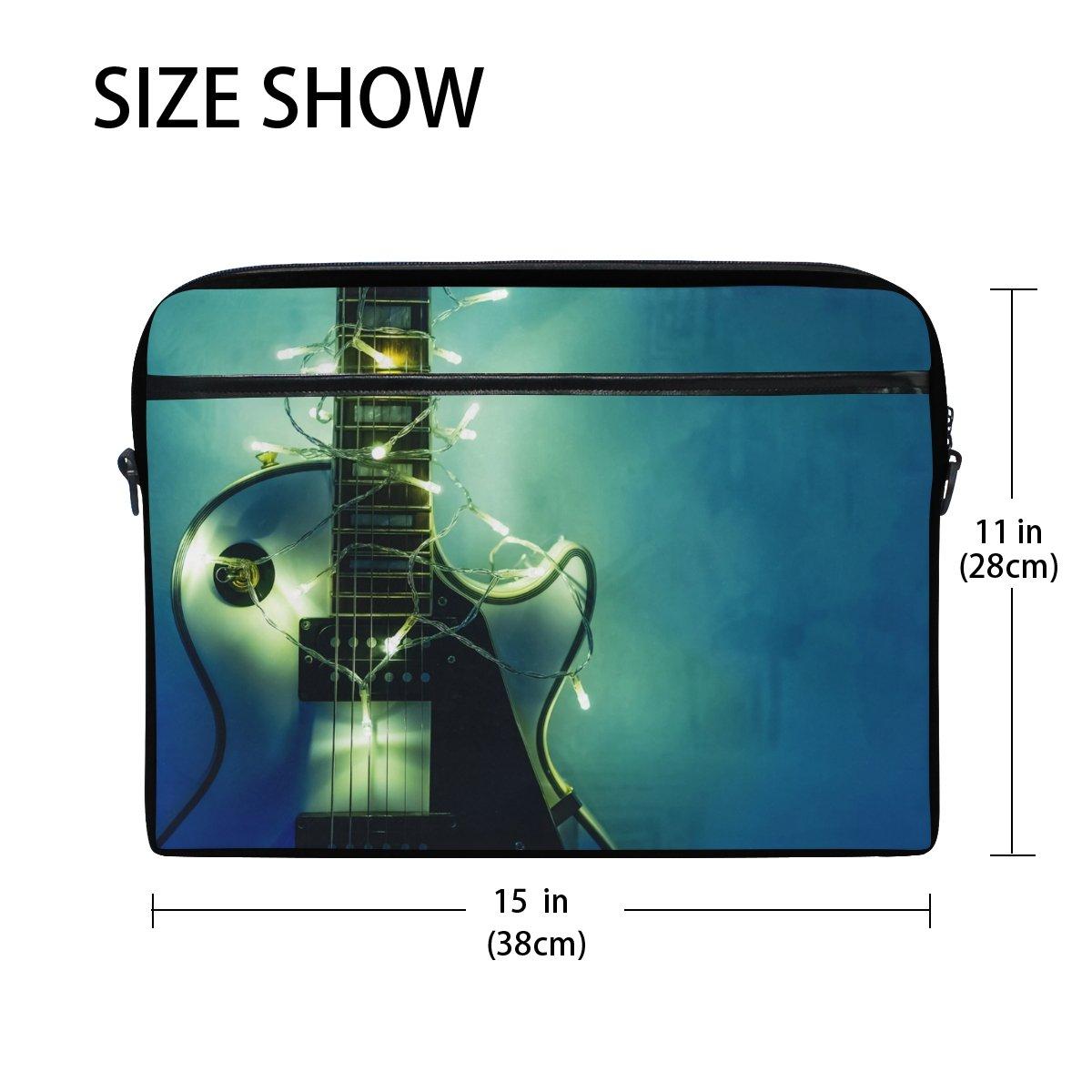 JSTEL Guitarra eléctrica con guirnalda iluminada portátil bandolera bandolera funda para 14 pulgadas a 15,6 pulgadas con correa de hombro ajustable para ...