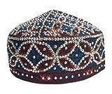 NDA Kufi Muslim Hand Made Stone Cap Men s Koofi Pakistani Topi Hat Beaded  NDA 8794fa8b5a