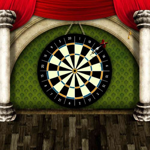 GladsBuy Dart Board 10' x 10' Computer Printed Photography Backdrop Stage Carpet Theme Background DGX-386
