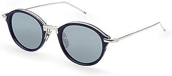 e55a26f77a5 Sunglasses THOM BROWNE TB 011 H-T-NVY-SLV Navy-Silver w Dark