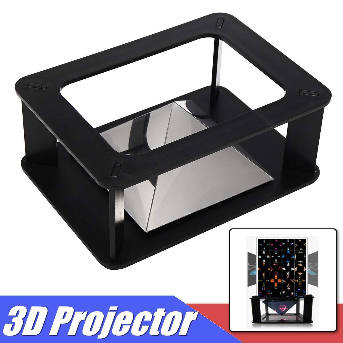 Amazon.com: 3D Universal Holograma Pirámide Video Box ...