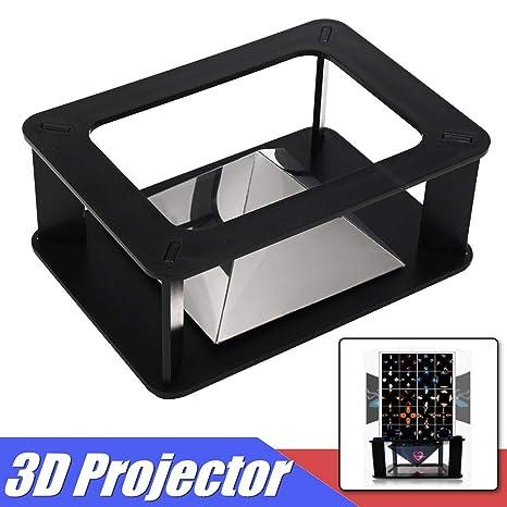 Amazon.com: 3D Universal Holograma Pirámide Video Box ...