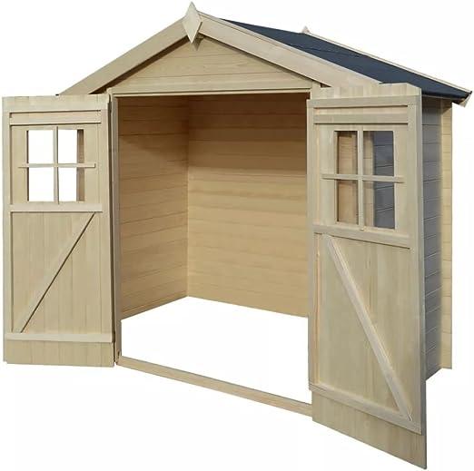 Festnight Caseta de Exterior para el jardín 2x1m de Madera 19mm: Amazon.es: Hogar