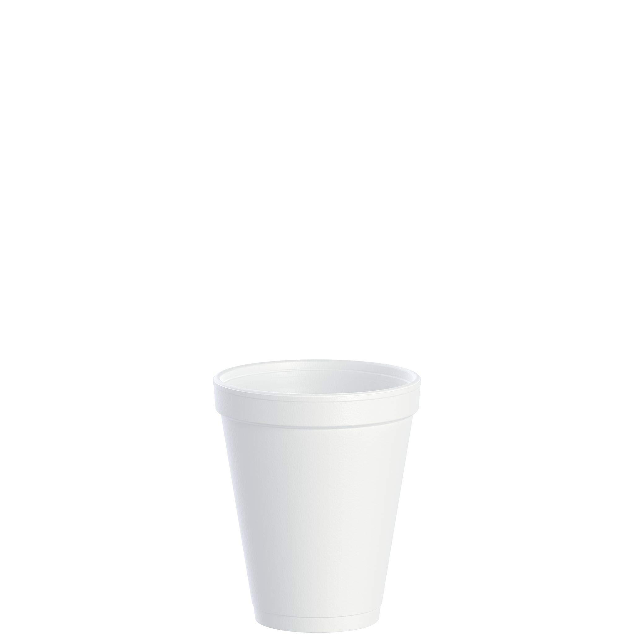Dart DRC10J10 Styrofoam Insulated Foam Cups, 10 oz, Carton of 1000(40 packs of 25 cups) by DART