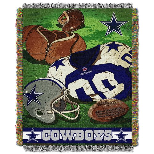 Amirshay, Inc. Dallas Cowboys NFL Woven Tapestry Throw (Vintage Series) (48