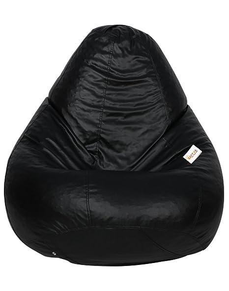 Prime Amazon Com Sattva Classic Bean Bag Without Beans Xxxl Black Pabps2019 Chair Design Images Pabps2019Com