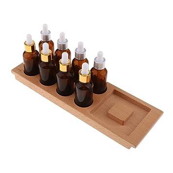Homyl 1 Unidad de Bandeja para Botellas Sensoriales Montessori de Madera con Diseño de Gotero