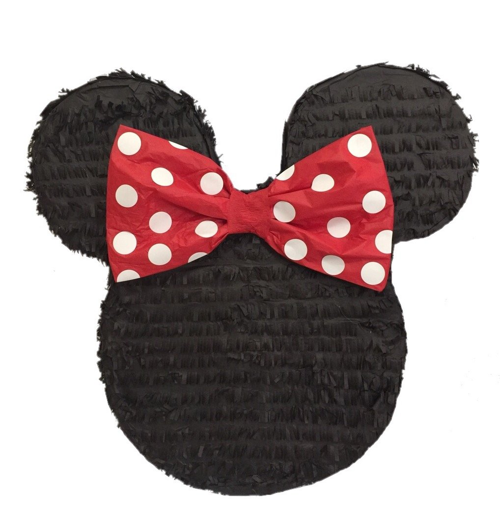 APINATA4U Mouse Ears with Red Bow Pinata 19'' Tall
