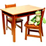 Amazon Com Ehemco Kids Table And 2 X Back Chairs Set