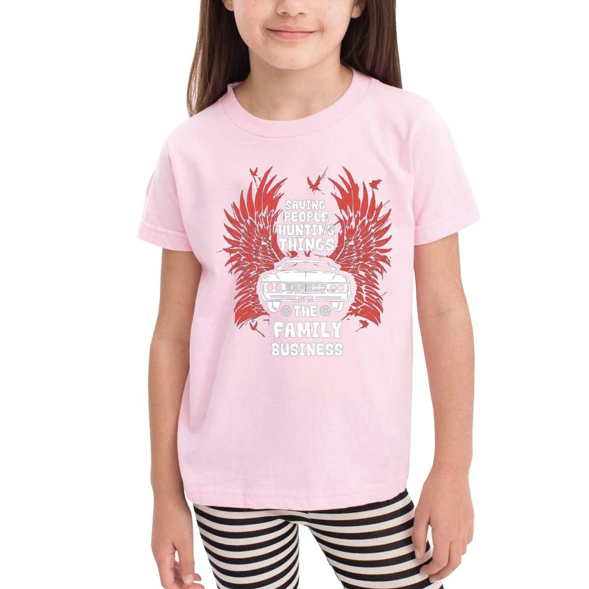 Kids T-Shirt Tops Black Supernatural Unisex Youths Short Sleeve T-Shirt