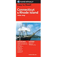 Connecticut/Rhode Island: State Folded Map (Rand McNally Easy to Read!)