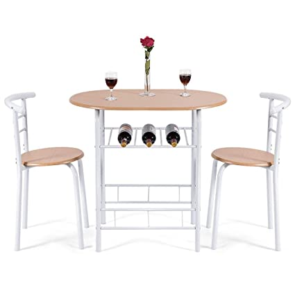 Compact apartment furniture Affordable Giantex Piece Dining Set Compact Chairs And Table Set With Metal Frame And Shelf Amazoncom Amazoncom Giantex Piece Dining Set Compact Chairs And Table