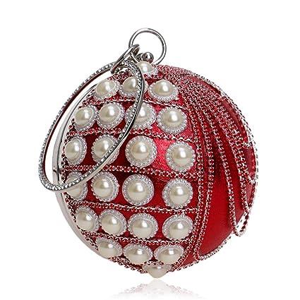 Bolso de Embrague del Sobre Borde de la Perla de la Mujer Embragues Bolso de Noche