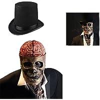 The latest skeleton biochemical mask for 2021 Halloween Skull Mask,Realistic 3D Latex Skeleton Headgear,Can cover upper…