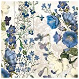 Michel Design Works 20-Count 3-Ply Paper Luncheon Napkins, Blue Meadow