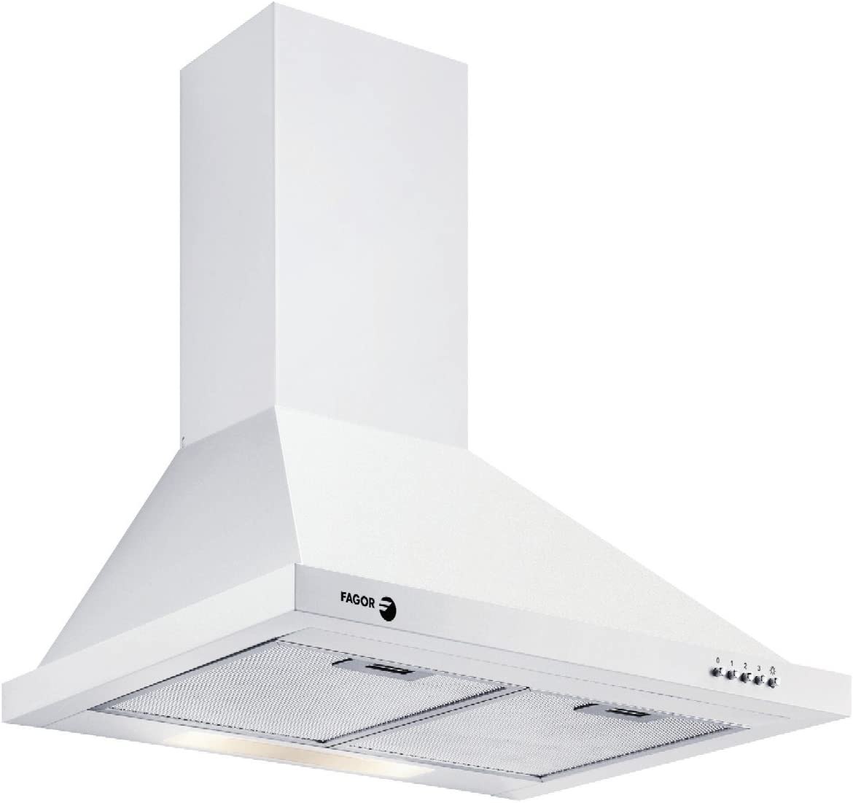 Fagor 9CFD60B - Campana (550 m³/h, Montado en pared, Color blanco, Botones, Carbono, 1 piezas): Amazon.es: Hogar