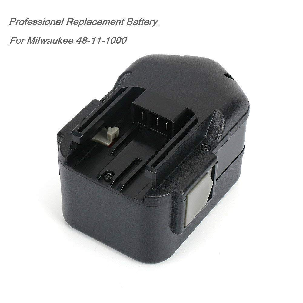 2 Pack 48-11-2220 Battery for Milwaukee 18V 3.0Ah NiMh Cordless Power Tools by REEXBON