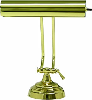product image for House Of Troy P10-131-61 10-1/2-Inch Portable Desk/Piano Lamp, Polished Brass