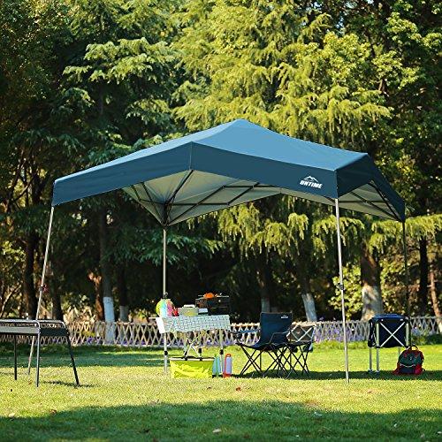 10' x 10' Pop up Slant Leg Canopy Outdoor Portable Instant Folding Tent UV Resistant - Navy Blue