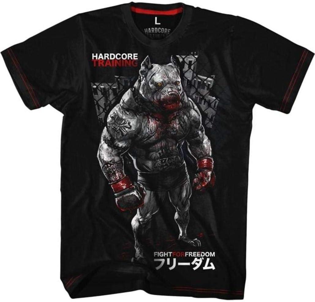 For Men MMA BJJ Fitness Grappling Camiseta Hardcore Training T-Shirt PitbullCity